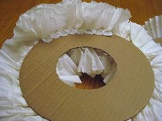 COFFEE FILTER WREATHS  Gumbo Lily: Tutus, holiday wreaths and Advent...