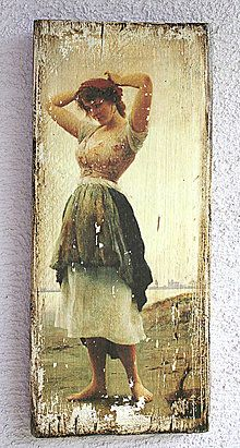 Obrázky - Vintage ženy - doska01 - 5485288_ Decoupage On Canvas, Decoupage Vintage, Altered Books Pages, Different Kinds Of Art, Biblical Art, Canvas Frame, Painting On Wood, Mixed Media Art, Altered Art