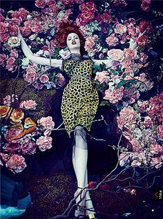 saturated loveliness…  viaspinningbirdkick:    Steven Klein / Vogue US January 2013.