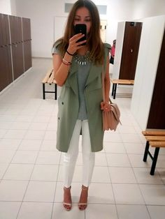 Timea C - Zara Pants, Waistcoat - Green Waistcoat