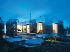 An Aluminum-clad green energy home in England