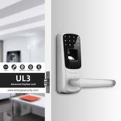 #smartlock #homesecurity Ultraloq UL3 Keyless Smart Lock has strong performance with fashion design. You can unlock with fingerprint, code or key.