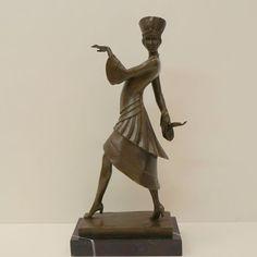Statue Sculpture Dancer Art Deco Style Art Nouveau Style Solid bronze Signed | eBay
