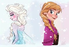 David Gilson Frozen drawings...so flipping adorable!