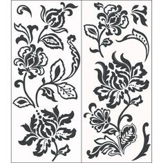 NEW Blue Mountain Wallcoverings Snap1004 Snap Instant Wall Art Deep Damask in Collectibles   eBay