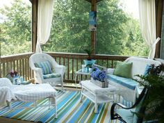 small screen porch decorating ideas | small screened porch design ... - Screened In Patio Decorating Ideas