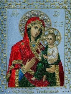 Maria Yantovskaya bead embroidered icons, embroidery, jewelry, religion, Russia, traditional, Russian crafts, gems, precious stones, Orthodox canon