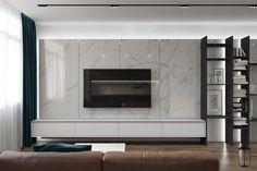 on Behance room Grey # – Tv Room Tv Cabinet Design, Tv Wall Design, Tv Feature Wall, Modern Tv Wall Units, Tv Unit Furniture, Living Room Tv Unit Designs, Tv Wall Decor, Home Room Design, Living Room Modern