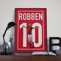 Arjen Robben Football Poster, FC Bayern Munich, Instant Download, Wall Art, Sport Poster, Fan Art, Vector Art, Soccer by CLewisDesignStore on Etsy