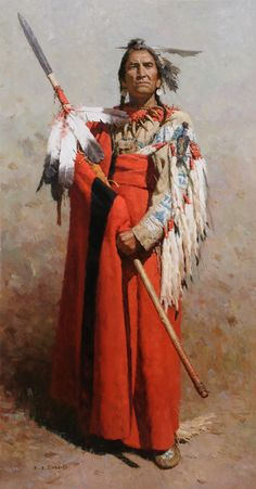 Z.S. Liang - Pride of the Blackfeet, 60x32 inches, subject name and date unknown.