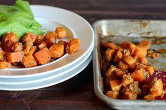 Mustard Roasted Sweet Potatoes || HeathersDish.com #glutenfree #healthy #sweetpotatoes