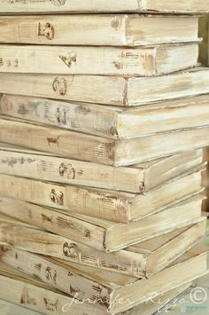 Repurpose old encyclopedia's into aged display books..... - Jennifer Rizzo