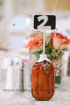 Ideas for Table Names and Numbers , Wedding Reception Photos by Erica Nicole Photography