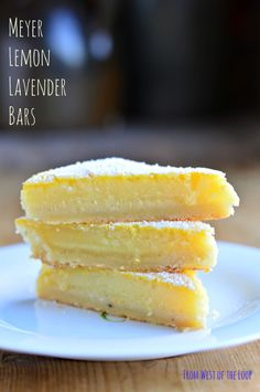 Meyer Lemon Lavender Bars: an easy recipe for the best lemon bars of your life! Everyone will want this recipe.