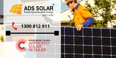Best Solar Company in Australia Ads Solar - Premium Solar Panel System with The Best Quality Solar Products and Services in Australia. We Offer A Variety of Solar Systems and Solar Panels. Best home solar packages at Australia's Best Value. Request a Quote Now. Premium Solar System with 10 years Workmanship Warranty. Call us today: 1300 812 911 Solar Panel System, Solar Panels, Solar Products, Solar Companies, Solar Panel Installation, Renewable Energy, Brisbane, Nice Tops, 10 Years