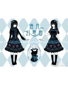 Beautiful Jellyfish Prints Lolita Jumper Skirt #Lolitadress #Lolita #Dress #Jumper #JSK