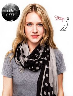2. Double wrap the longer side and pull until the short side is hiddenZara ($29.90)