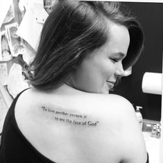 """""""to love another person is to see the face of God"""" Les Mis tattoo.Love this quote!!!!!"""