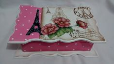 Caixa Porta Jóias Paris Romantic