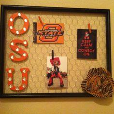 OSU Oklahoma State Cowboys!  (Frame, Chicken Wire)