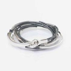 BOHO Leather Wrap Bracelet Leather Jewelry Gift by wrapsbyrenzel Leather Jewelry, Boho Jewelry, Vintage Jewelry, Unique Jewelry, Leather Cord, Jewlery, Beaded Wrap Bracelets, Silver Necklaces, Bangle Bracelets