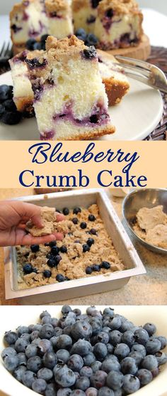 Soft and tender buttermilk cake studded with blueberries and crowned with a brown sugar crumb topping.
