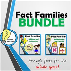 This Fact Families BUNDLE combines two packs to give you and your students access to all four operations including addition, subtraction, multiplication and division.