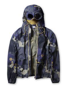 C.P. Company - C.P. Company Camo Goggle Jacket in Navy Blue