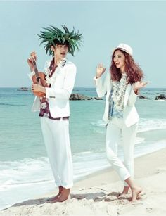 """The Terrier and Lobster: """"Aloha! Paradise"""" by Hyea W. Kang for Vogue Girl Korea"""