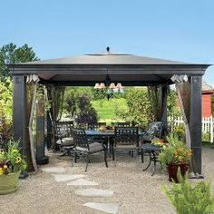 Backyard Gazebo Ideas 25 best ideas about fire pit gazebo on pinterest outdoor swings patio and patio bench Low Maintenance Vinyl Gazebo By Chesterfield Fence Deck Gazebo Outdoorideas Homeimprovement Pergolas Gazebos Pinterest Vinyls Decks And Fence