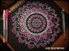 #mandala #sketch #pigma #doodle #inkart #mixedmedia #art #artismytherapist #zen #draw #zentangle #henna #neon #gellyroll #gel #pens #beginner #micron #doodleaday By Amy Raymond 4/2/17