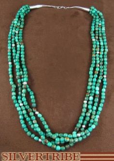 Navajo Jewelry | Sterling Silver Jewelry | Kingman Turquoise Necklace | Necklace
