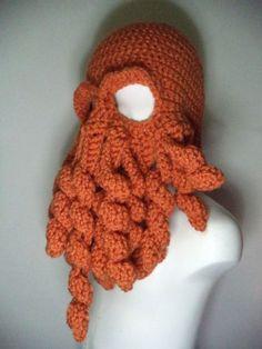 Gorro feito em crochet Cutulhu - 100% acrílico, tamanho adulto M, também é possível alterar tamanho/cor a pedido por encomenda.