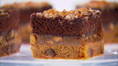 Giada's magic bars. Chocolate Chip cookie, caramel, and brownie all layered into what I'm sure would be one amazing dessert.