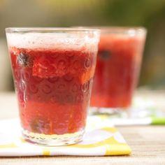 berries + red wine + brown sugar + slices lemon + lemon juice + ginger