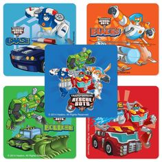 Amazon.com: Transformers Rescue Bots Stickers - Birthday and Theme Party Supplies - 75 per Pack: Toys & Games