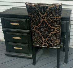 Check out this item in my Etsy shop https://www.etsy.com/listing/465410683/black-wood-desk-with-elegant-accent