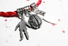 Zombie Bracelet, red, Halloween, horror, goth, living dead, undead