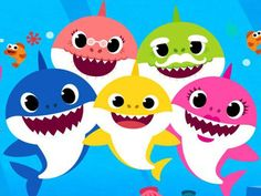 """You've heard the """"Baby Shark"""" song. Now find out the story behind the company that created it, who wrote it, how it became a viral hit — and when the """"Baby Shark"""" TV show is coming to Netflix. Baby Shark Name, Shark Names, Baby Shark Song, Shark Pictures, Shark Photos, Shark Tv Show, Baby Hai, Shark Birthday Cakes, Shark Painting"""
