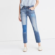 Cruiser Straight Crop Jeans: Patched-Up Edition