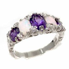 Shop a great selection of 925 Sterling Silver Real Genuine Amethyst Opal Womens Band Ring. Find new offer and Similar products for 925 Sterling Silver Real Genuine Amethyst Opal Womens Band Ring. Gold Diamond Earrings, Diamond Rings, Amethyst Rings, Gold Jewelry, Women Jewelry, Fashion Jewelry, Jewellery, Promise Rings For Her, Schmuck