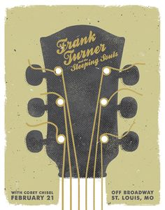 Frank Turner Poster by TJ Rippelmeyer