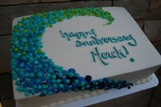 ombre cake ocean blues