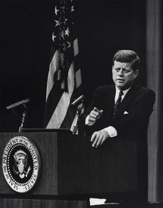 1962. 14 Juin. A somewhat tired looking JFK gave a press conference in the State Department auditorium at 4 PM