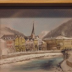 Sim Sees Bad Ischl, city in Austria Faber Castell, Polychromos, Copic Markers, Sketchbooks, Austria, Sketching, Sims, Instagram, Drawings