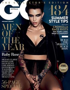 To celebrate being crowned GQ Australia's Woman of the Year, Ruby Rose is on the cover of this month's issue.