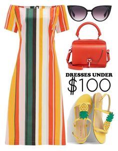 """Under $100: Summer Dresses"" by joslynaurora on Polyvore featuring moda, Finery London, Talbots, Carven y under100"