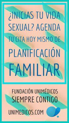 ¿Inicias tu vida sexual? Ten tu cita de planificación familiar, agenda tu cita hoy mismo #FundaciónUnimédicos #EMASiempreContigo #Sexualidad #Sexo #PlanificaciónFamiliar #Anticoncepción