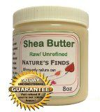 Shea Butter, Pure Natural Ghana Nut Oil, 8oz - Luxurious, Raw, Unrefined, Non Greasy, Quick Absorbing. Fantastic Results for Baby Soft Skin. Moisturizing the Skin, Balm for Chapped Lips, Cracked Skin, Wrinkles, Cellulite, Stretch Mar