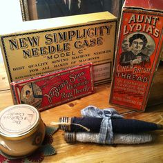 I like finding and collecting vintage sewing and textile items.